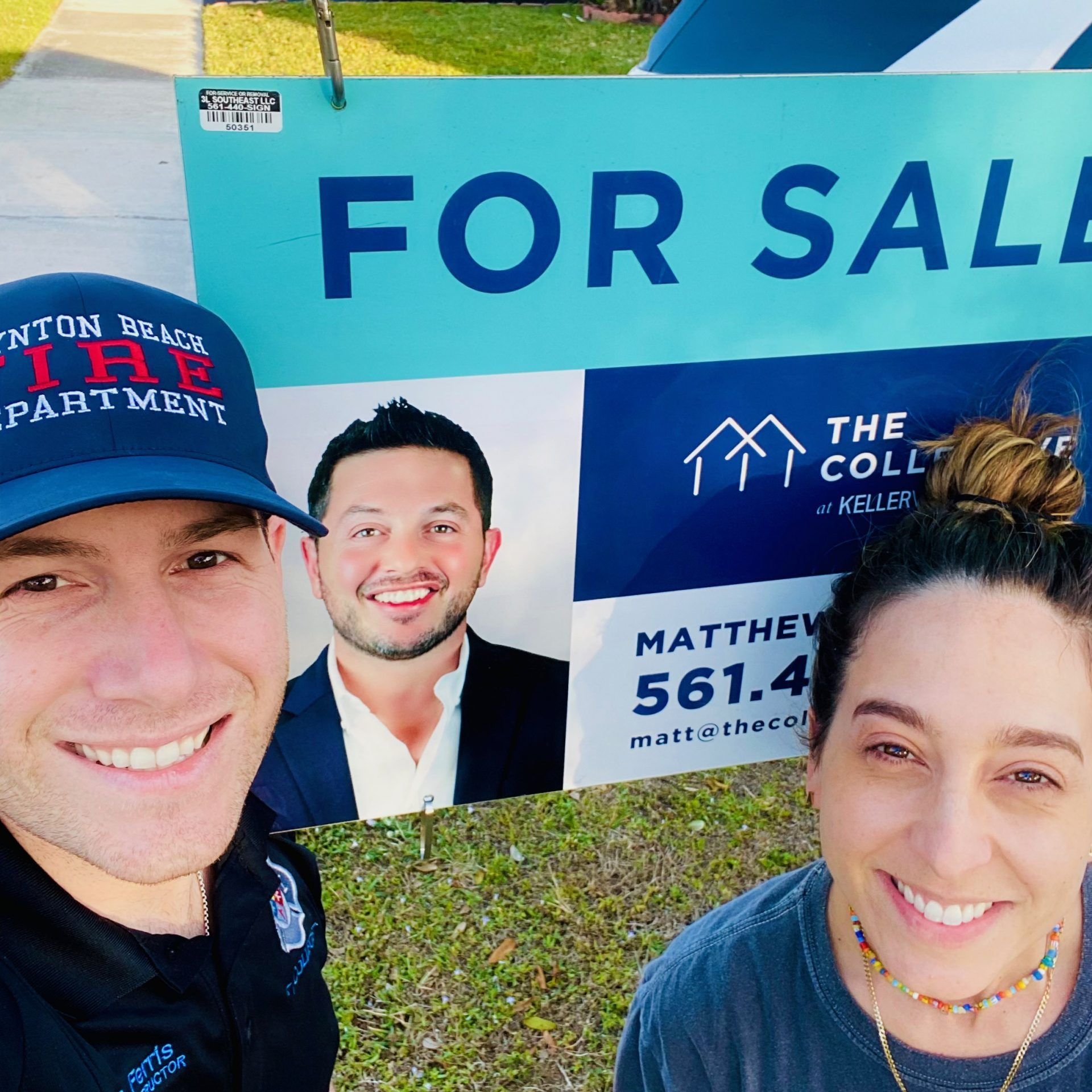 Yard sign pic with Clients